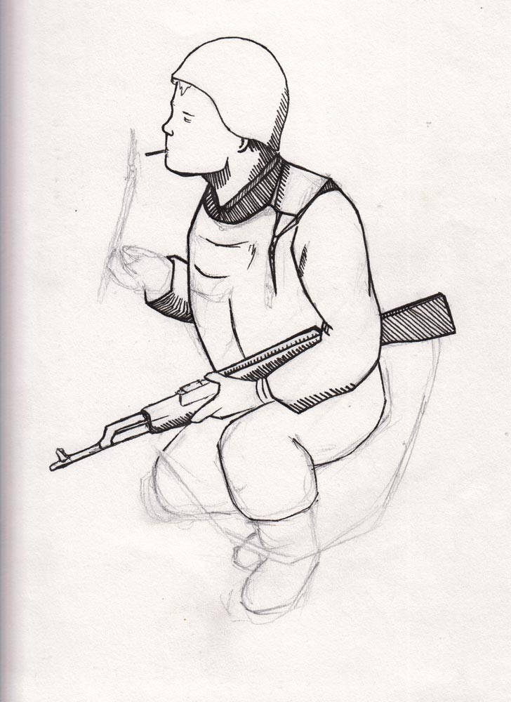 Illustration Russian Soldier