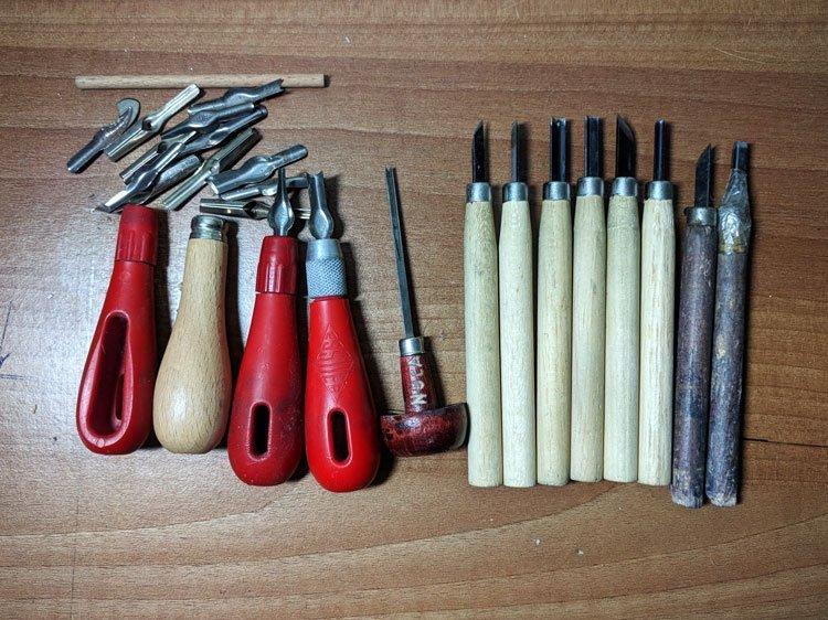Lino Printing Tools