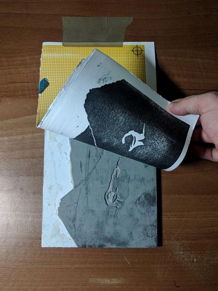 Hand printing Lino Print