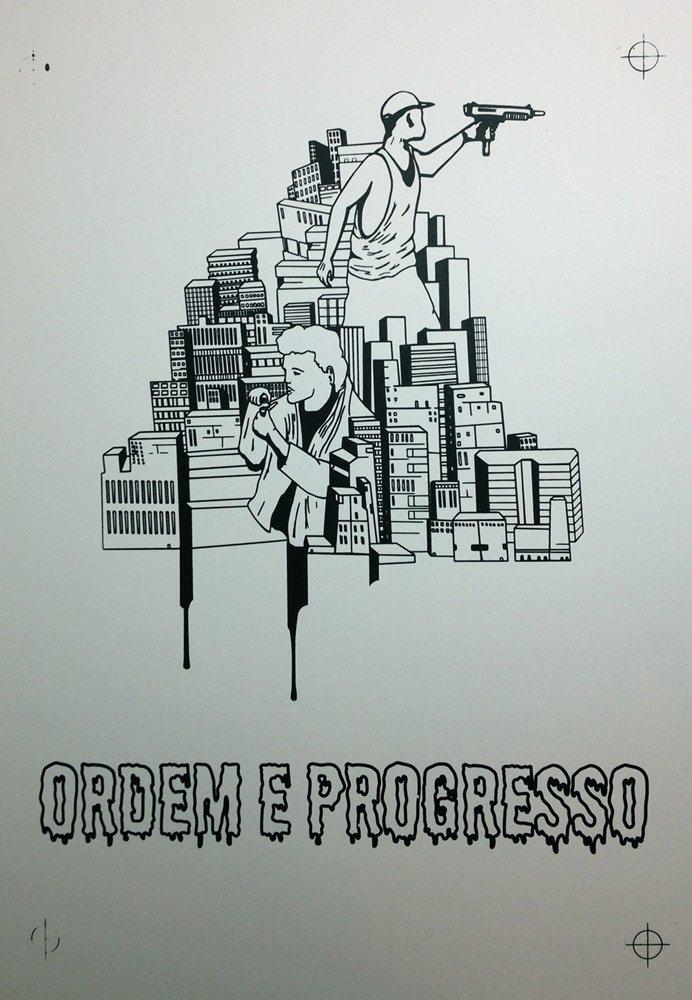 Screen Printing Ordem E Progresso