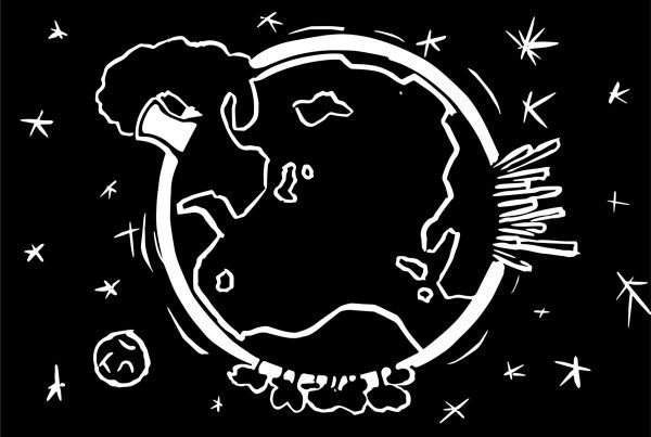 Earth Lino Print/Graphic Design