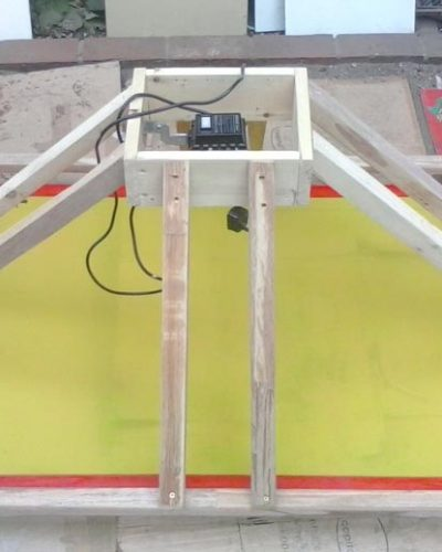 A1 Size homemade 1000w screen print exposure unit being built