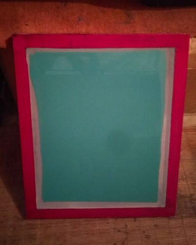 Screen coated with emulsion